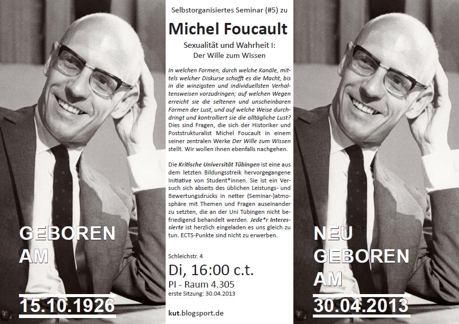 Flyer zum Foucault-Seminar im SS13