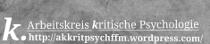 AK Kritische Psychologie FFM