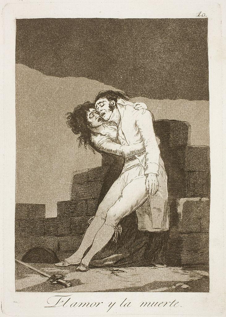 El amor y la muerte (1799) from Los Caprichos by Francisco Goya
